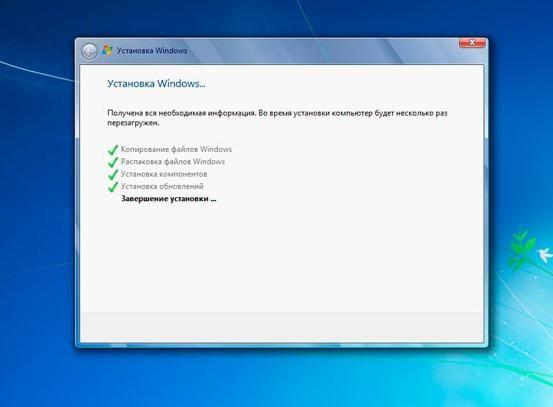 Установка Windows 7 с флешки на ноутбук