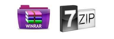 Логотипы архиваторов