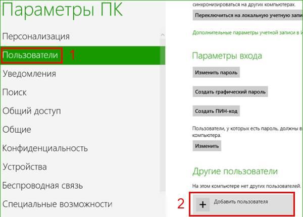 Скриншоты добавления пользователя