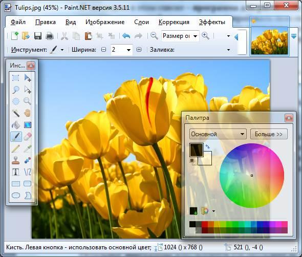 Приложение Paint.NET