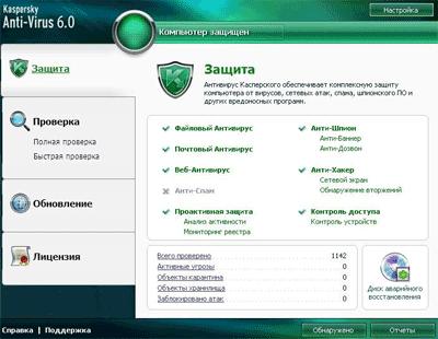 Параметр Kaspersky Anti-Virus