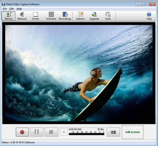 Окно программы Debut Video Capture