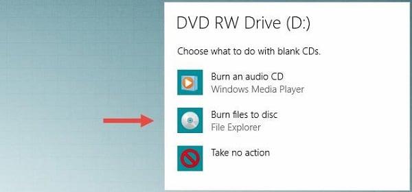 Выбор дальнейших действий с диском в Виндовс 10