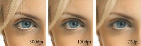 От величины DPI напрямую зависит качество распечатанного фото