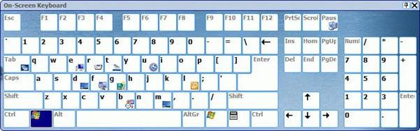 Виртуальная клавиатуру на экране