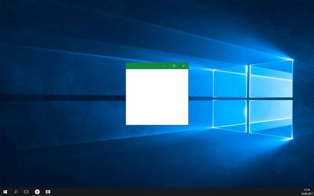 Окно не на весь экран
