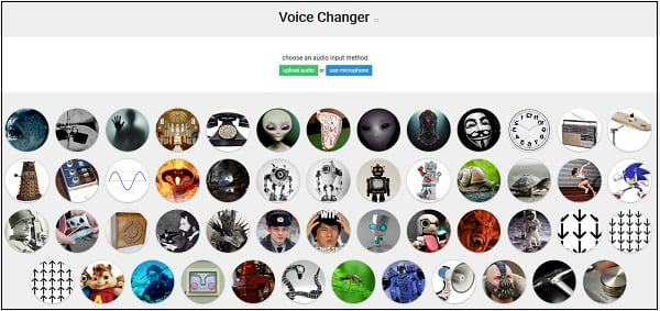 Рабочий экран voicechanger.io