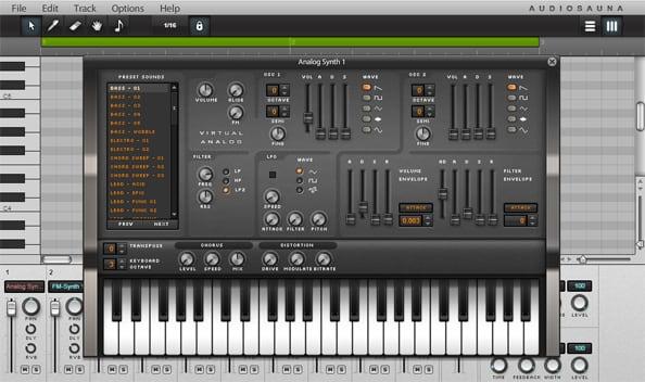 Синтезатор на Audiosauna