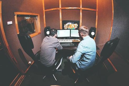 Студия для записи песни