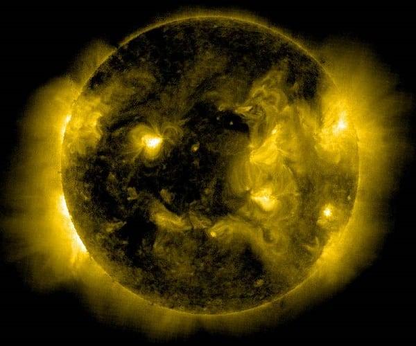 Снимок спутника SOHO