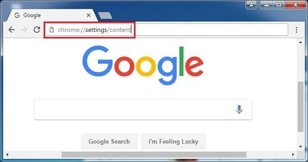 Для доступа к настройкам сетевого контента введите указанную команду в адресной строке браузера