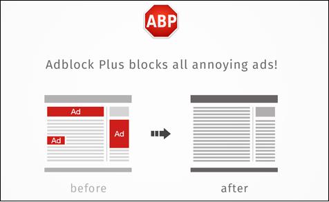 """Иллюстрация работы """"Adblock Plus"""""""