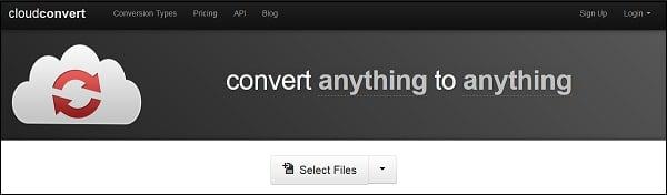 Сервис cloudconvert