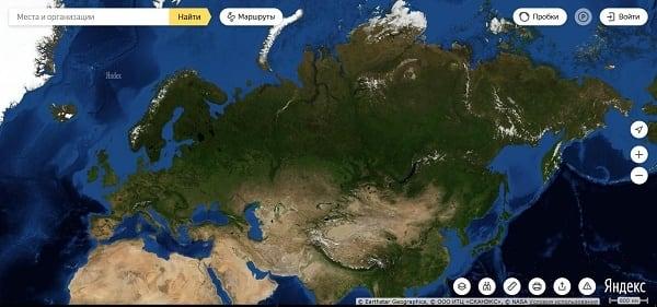 """Работать с сервисом """"Яндекс.Карты"""" лучше всего на территории России"""