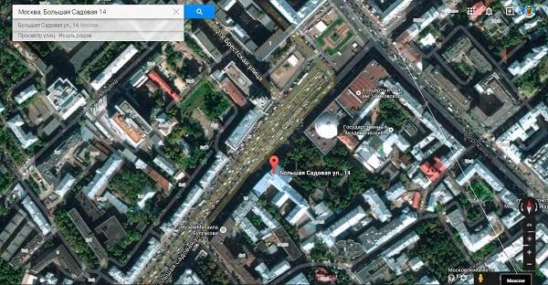 Спутниковое отображение карты