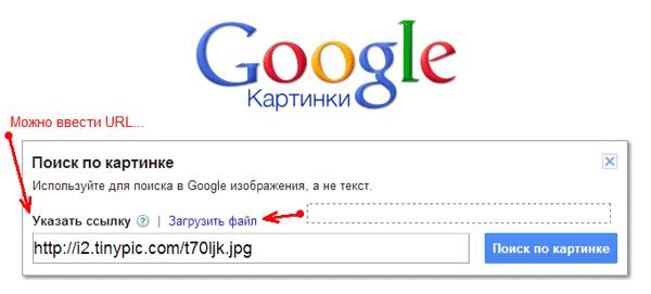Иллюстрация поиска картинки в Гугл