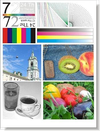 Тестовая страница проверки цветного принтера