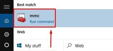Команда mmc