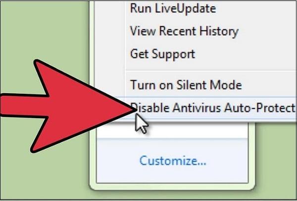 Пункт Disable Antivirus