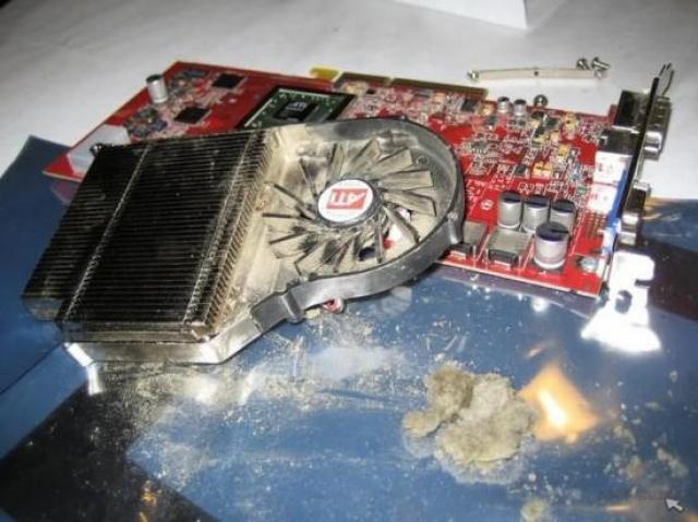 Пыль на модулях компьютера