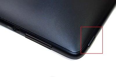 Перезагрузка планшета специальной кнопкой