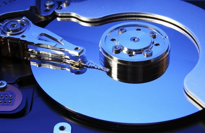 Рабочая поверхность жесткого диска