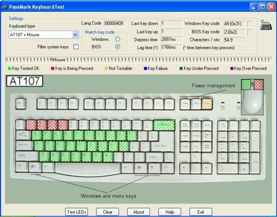 Проверяем клавиатуру офлайн при помощи Keyboard Test