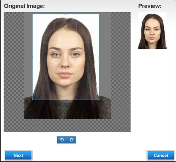 Пример центрирования фото