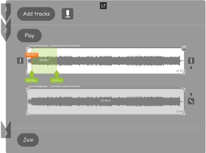 Обработка мелодий в AudioEditing