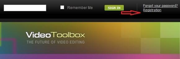 Регистрируемся на videotoolbox