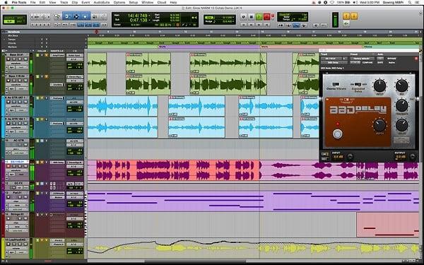 Рабочий экран «Pro Tools 12»