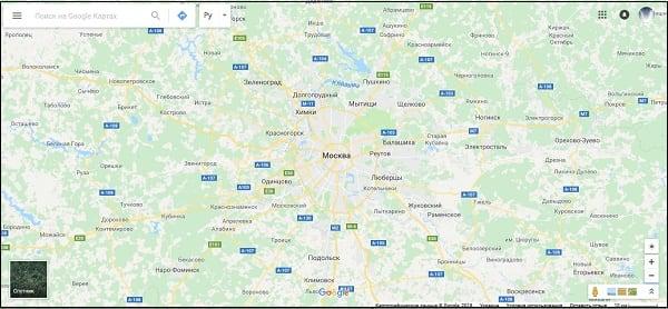 Отображение городов и населенных пунктов на Google карте