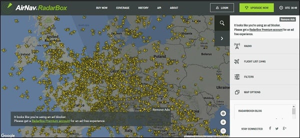 Функционал radarbox24.com