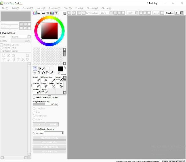 Программа Paint Tool Sai