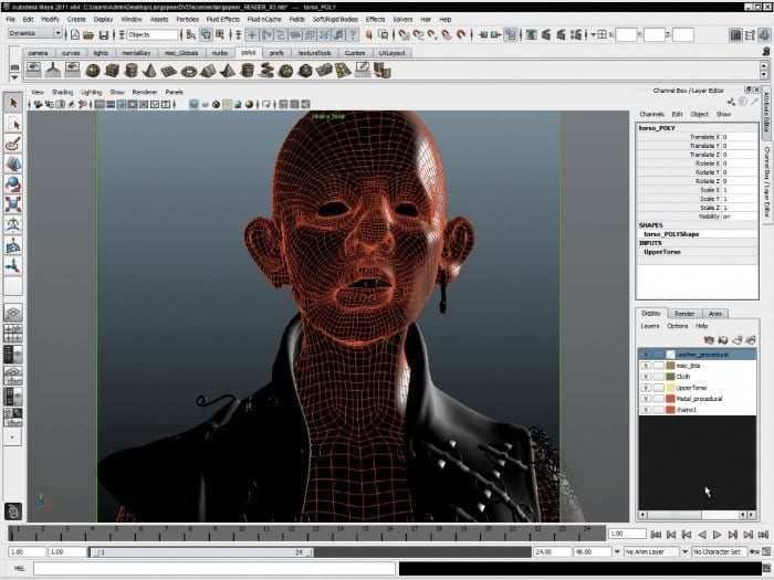Окно редактора MAXON Bodypaint 3D