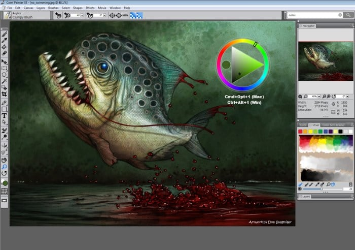 Редактор Corel Painter X3