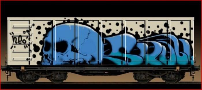 Рисунок разрисованного вагона