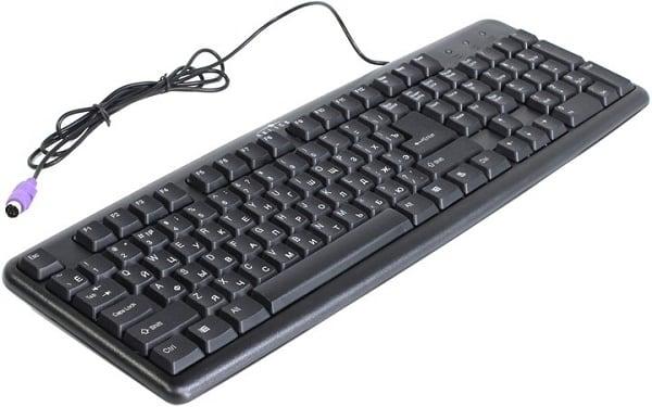 Стандартная клавиатура с разъёмом PS/2
