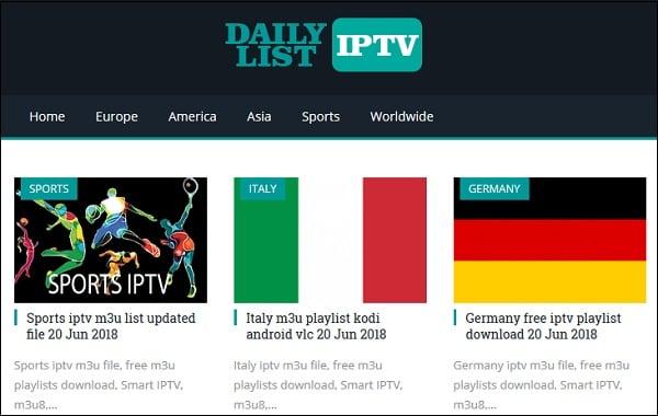 На ресурсе dailyiptvlist.com вы можете скачать свежие плейлисты многих стран мира