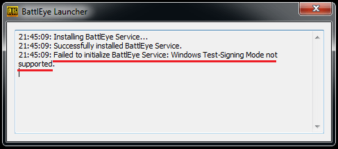 Уведомление о сбое в инициализации BattlEye