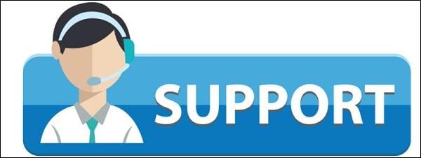 Обратитесь в техническую поддержку за консультацией и помощью