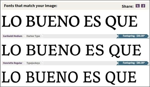 Результаты поиска на сервисе fontsquirrel