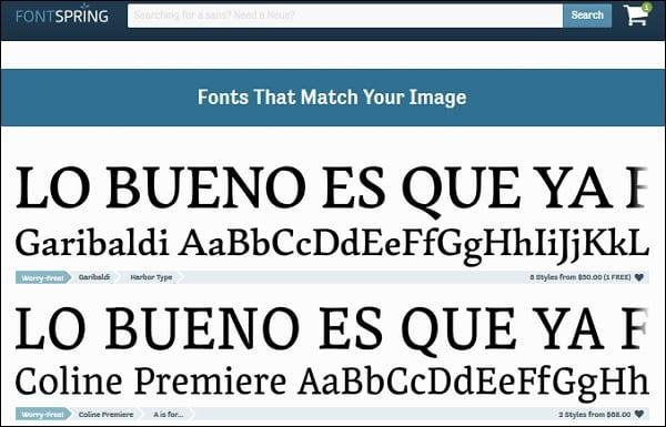 Найденные результаты на fontspring
