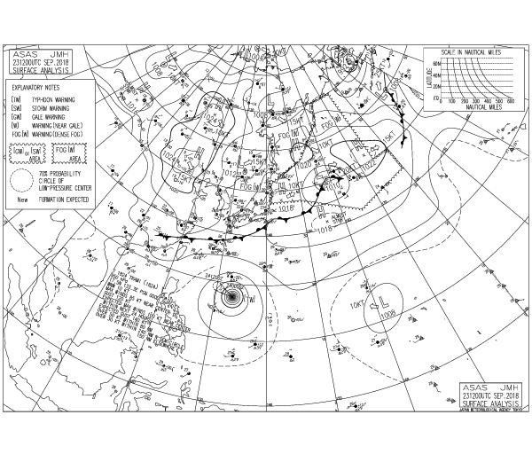 Карта погоды от JMA