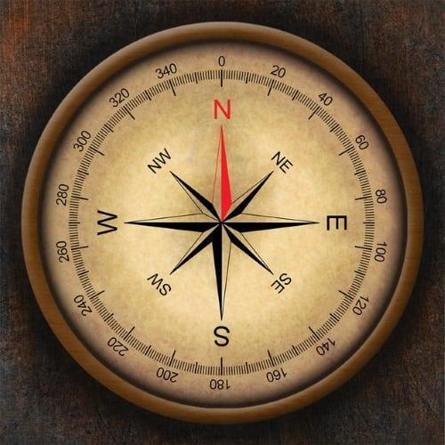 Расположение английских букв на циферблате компаса