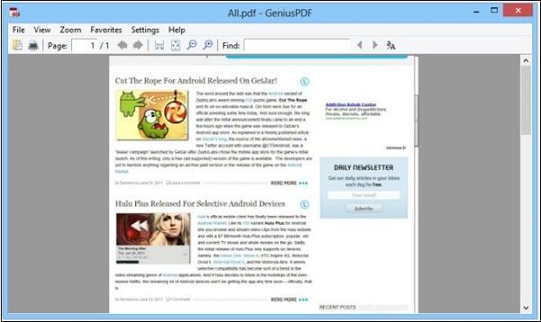 """Процесс чтения с помощью """"Genius PDF"""""""