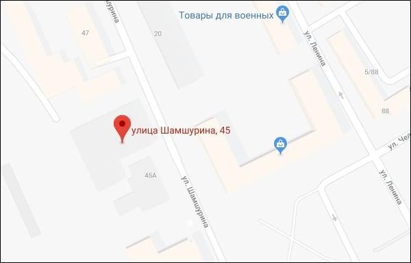 Карта расположения 630960 Новосибирск МСЦ
