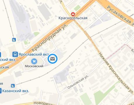 """Карта """"Москва-казанский вокзал ПЖДП"""""""