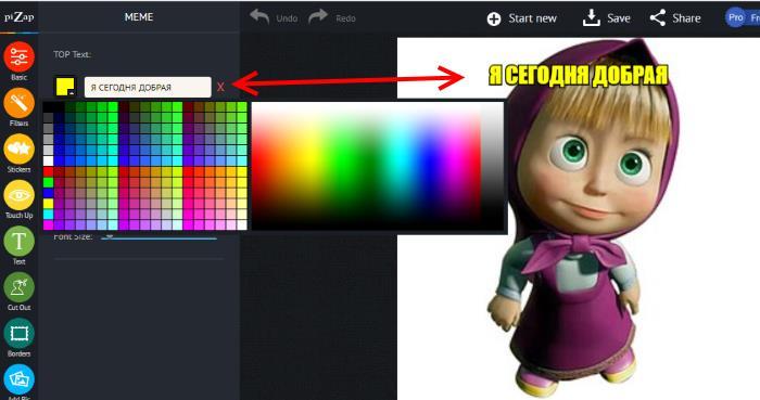 Графический редактор Pizap