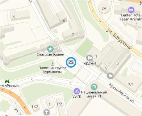 Расположение Казанского МСЦ